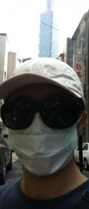 Travel With Hat, Sun Glass and Mask in Taipei